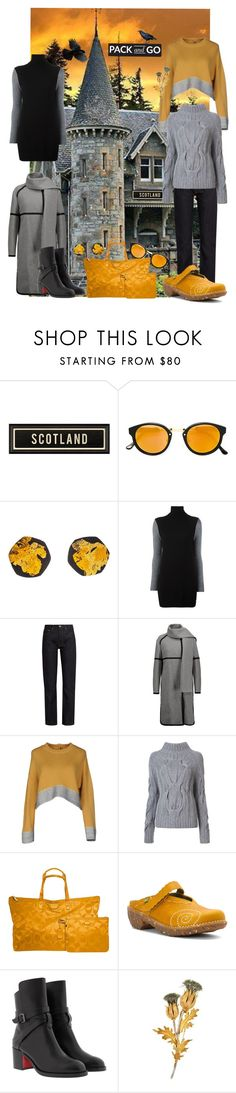 """""""Ella - Hunting Harris Tweed"""" by fwparker ❤ liked on Polyvore featuring RetroSuperFuture, Be-Jewelled, Equipment, Brock Collection, Belstaff, Marni, Sally Lapointe, Coach, El Naturalista and Christian Louboutin"""