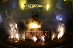 As Cal fans know, things can get a little heated during football season! Bonfire rallies began in 1891 and soon became a yearly ritual for the night before the Big Game. Originally held on the land where the Valley Life Sciences building now stands, the bonfire has since relocated to the Greek Theater. #GoBears