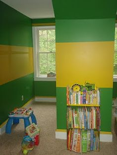 John Deere! Some day when we buy a house I have a feeling I'll have a little boy (or his father) who will have to have a room painted like this!! :)