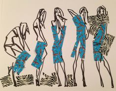 """FASHION ILLUSTRATED: PETIT DEJEUNER Where power dressing and power breakfast meet [[MORE]]   Illustration by Donald """"Drawbertson""""..."""