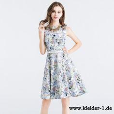 Baumwoll Blumenkleid Sommer Kleid