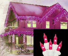 Vickerman 100 Lights Pink White Wire End Connecting Lock Set with 4Inch Spacing and 33Feet Length *** Read more reviews of the product by visiting the link on the image.