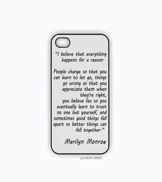 iPhone 5 Case, iPhone 5s Case - Marilyn Monroe Quote