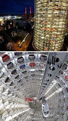 Parking? ! Yes, that is parking, parking Wolf Wolfsburg, Germany, how a cool Zile. . .
