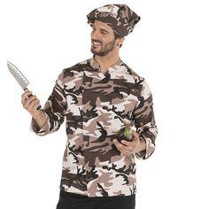 9455 5103 - chaqueta chef goya camuflaje Shirt Dress, Mens Tops, Shirts, Fashion, Camo, Jackets, Kitchen, Moda, Shirtdress