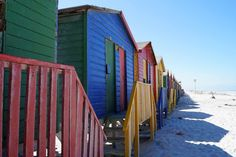Strandhäuser in Muizenberg Fair Grounds, Travel, South Africa Holidays, Cape Town, National Forest, Island, Viajes, Destinations, Traveling