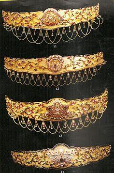 Jewellery Designs: Vaddanam/vadiyanam/kammarpatta designs 4