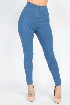 High Waist Denim Jeans   KjSelections Jeans Skinny, Denim Skinny Jeans, High Jeans, Skinny Legs, High Waist Jeans, Blue Jeans, Black Flare Pants, Jeans For Sale, Denim Fabric