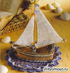 Crochet boat  ♥LC♥ with diagrams