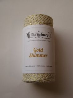 10 Yards of GOLD SHIMMER  Light Cream and by GardeningGalAtWork, $1.69