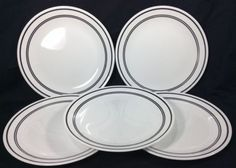 Corelle Classic Cafe Black Dinner Plates Replacement Break and Chip Resistant