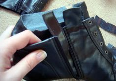 DIY Ankle Boots -  just brilliant