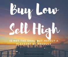 buy low sell high is a pleasant by product