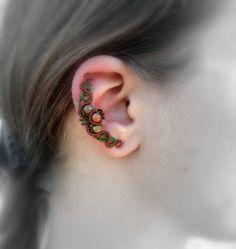 Handmade Filigree Fairy Elf Ear Cuffs Phoenix Tail Ear Wrap Clip on Earrings Non Pierced for Women /& Men