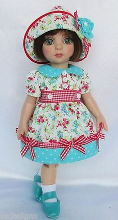 """OOAK Patsy's Buds Blossoms w Shoes for 10"""" Ann Estelle Made by Ssdesigns 