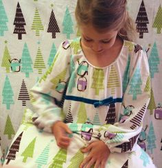 For kids who don't sleep under the top sheet anyway - use it to make matching nightgowns! (angry chicken)