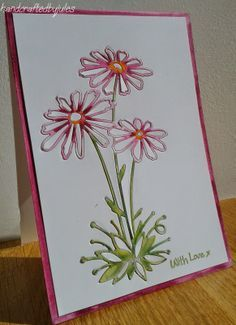 cards + memory box glorious gerber daisies - Google Search
