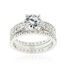 925 Silver 2ct CZ Engagement & Bridal Wedding Ring Set. Deal Price: $29.99. List Price: $85.00. Visit http://dealtodeals.com/top-trending-deals/silver-2ct-cz-engagement-bridal-wedding-ring-set/d19788/jewelry/c12/