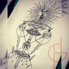 desenho #xango #esboco #desenhos #tattooart #estudos #nanquin #opaxoro #machadodexango