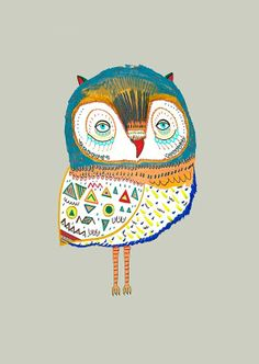 Owl Beauty. Limited edition art print by Ashley by AshleyPercival, $40.00