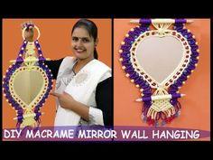 DIY How to make Macrame Bangle Holder Macrame Thread, Macrame Knots, Macrame Mirror, Macrame Art, Wall Hanging Designs, Diy Hanging, Valentine Special, Macrame Patterns, Free Printables