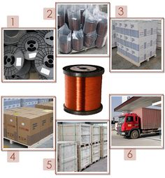 packing and shipping of enameled round copper wire. We must ensure the products's safety.