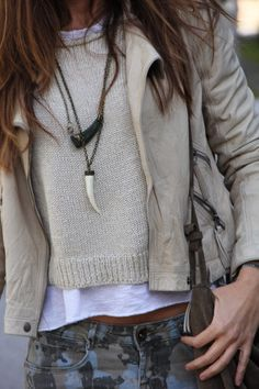 wool sweater and beading