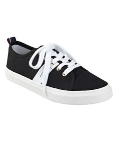 Another great find on #zulily! Black & White Band Lainie 2 Sneaker #zulilyfinds