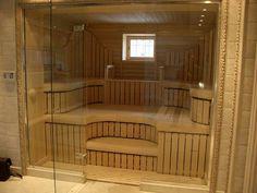 U Shaped House Plans, U Shaped Houses, Sauna Design, Sauna Room, Good Job, Powder Room, Deck, Stairs, Outdoor Decor