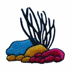 ID #0345 Coral Embroidered Iron On Badge Applique Patch #Unknown