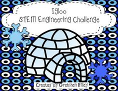 """Igloo+STEM+Engineering+ChallengeAre+you+interested+in+ways+to+incorporate+STEM+into+the+holiday+season?+Do+you+need+a+fun+way+to+get+your+kids+moving+on+a+cold,+winter+day?This+unit+includes:Teacher+tips+pageIgloo+prompt+pageChallenge+rulesDraw+and+label+your+igloo+pageEngineering+design+process+recording+pageResults+questions+pageWere+you+successful+graph+The+""""T""""+in+stem+technology+tips+page.This+product+comes+BUNDLED!"""