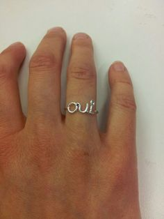 Do you? Will you? Oui! Heart Ring, Silver Rings, Jewels, Jewellery, Women, Fashion, Moda, Fashion Styles, Schmuck