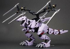 A massive kit of the Berserk Fuhrer comes out with all the details! The Berserk Fuhrer is a Tyrannosaurus-type Zoid, created by the Guylos Empire, and used during the various wars on Zi. Grimlock Transformers, Little Boy Toys, Robot Animal, Sci Fi Armor, Anime Music, Lego Projects, Berserk, Gundam, Cool Things To Buy