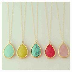 Delicate stone necklace $25