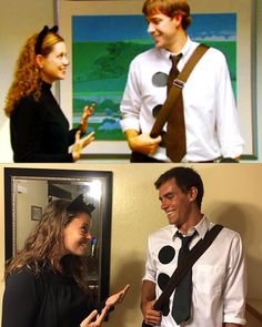 Couples Halloween Costumes | Jim and Pam