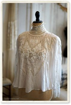 Perfect with either a tutu skirt or crop jeans x Blouse Vintage, Vintage Dresses, Vintage Outfits, Edwardian Fashion, Vintage Fashion, Edwardian Era, Look Retro, Romantic Outfit, Linens And Lace