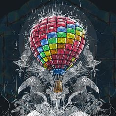 Detail of my illustration for coldplay T-shirt