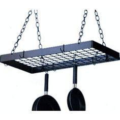 Hanging pots & pans Blackhurst Kitchen Pot Racks - Ceiling Pot Racks #kitchensource #pinterest #followerfind