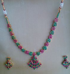 **** DEAL OF THE DAY ****  ----FLAT 50% OFF ON MRP----  NECKLACE SET IN PURPLE AND GREEN STONES code-N07 MRP-Rs. 1625/-  TODAY PRICE------Rs.812/-ONLY  For Purchase Call or watsapp:9650435323 or  email: shreejeejewels@outlook.com  Please visit and Like https://www.facebook.com/pages/Shreejee-Artificial-Jewellery/1475003012774673?ref=bookmarks