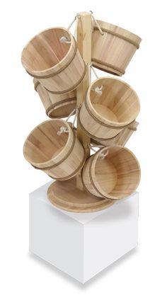 Impulse Barrel Tree Counter Display (Half Peck) | TsiSupplies.com