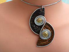 Bijoux collier Capsule à Café Nespresso 523 marron