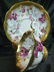 Avon teacup and saucer.Pink & White Floral with Gold Gilt.from the Summer Bounty Series Tea Cup Set, My Cup Of Tea, Tea Sets, Tea Cup Saucer, Antique Tea Cups, Antique Dishes, Vintage Teacups, Royal Albert, Cuppa Tea
