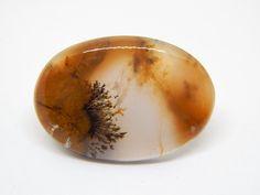 Agata dendritica gemstone cabochon 29 x 20 mm, Opale agata di HELGASHOP su Etsy