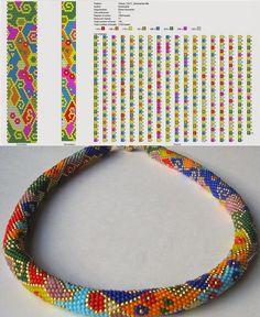 Bead Crochet Patterns, Bead Crochet Rope, Beading Patterns, Crochet Beaded Necklace, Crochet Bracelet, Beaded Jewelry Designs, Bead Jewellery, Loom Bracelet Patterns, Seed Bead Bracelets