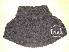 Un chauffe épaule réalisé à partir de 2 rectangles à tricoter dans un temps record 5h ... pour les amoureuses de grosses laines.