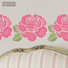 Stencils for Home Decor, Rose Flower Stencil, reusable wall stencil 10206