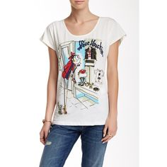 LOVE Moschino Maglietta Stampa Vetrina Tee ( 60) ❤ liked on Polyvore  featuring tops 1b454b47579