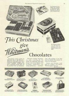 This Christmas Whitmans Chocolates (1929) #christmas #retro #ads