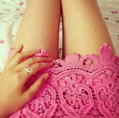 2015 Pink Lace skirt