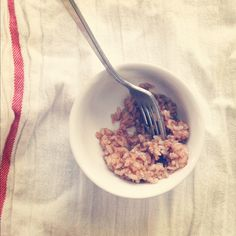 Had this for breakfast today (a great way to use up leftover rice). Sweet Cinnamon Rice   Summer Harms